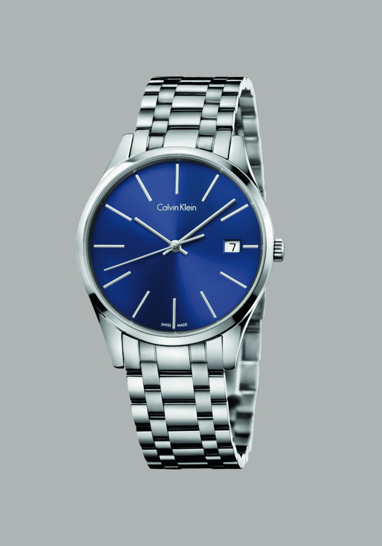 Calvin Klein Time by blue Lady, K4N2314N, Edelstahl, silber