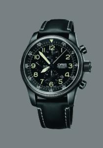 Oris Big Crown Timer Chronograph, 01 675 7648 4234-07 5 23 77, Edelstahl, Lederband, schwarz