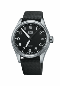 Oris Big Crown ProPilot Date, 01 751 7697 4164-07 5 20 15FC, Edelstahl, Textilband, schwarz