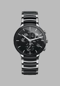 Rado Centrix, R30130152, Edelstahl, schwarz, silber