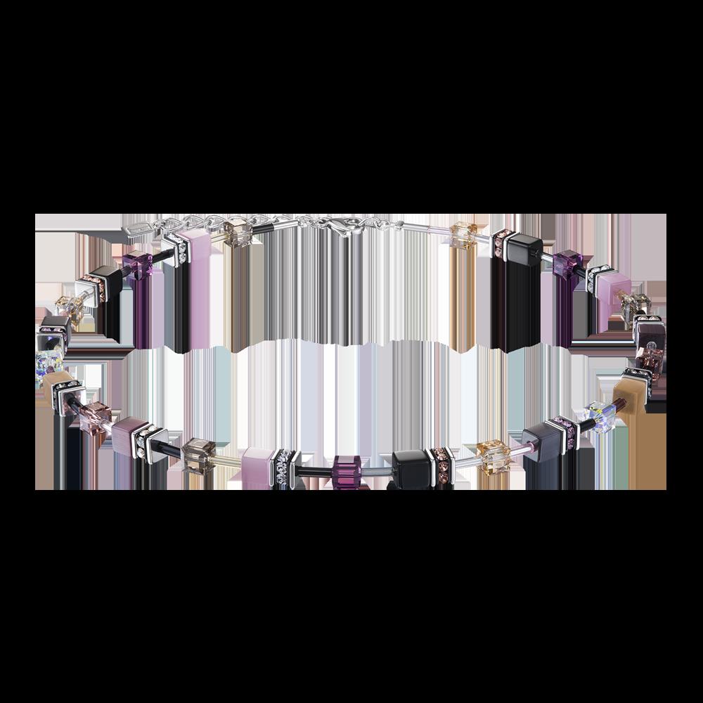Coeur de Lion Collier GeoCUBE® lila-rosa 2838/10-0838 bei Juwelier Kröpfl